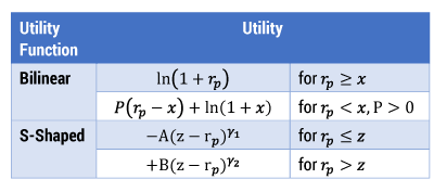 Functions used in full-scale optimization.