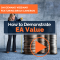 How to Demonstrate EA Value