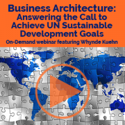 Business Architecture Answering the Call to Achieve UN Sustainable Development Goals