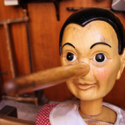 Pinocchio puppet and his long nose