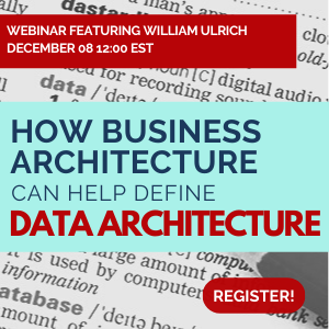 How Business Architecture can help define data architecture